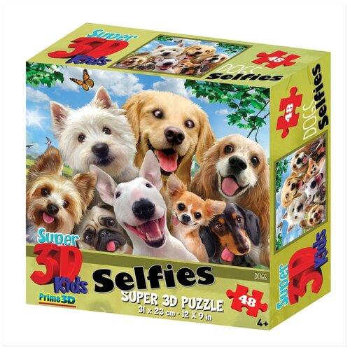Купить Пазл Prime 3D Собаки селфи (13535), 48 дет., Пазлы