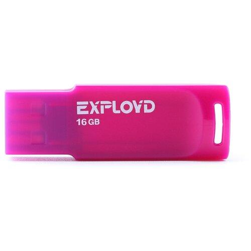 Фото - Флешка EXPLOYD 560 16 GB, violet флешка exployd 580 64 gb black