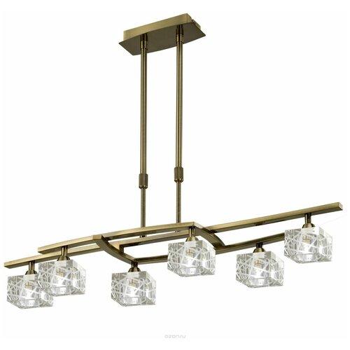 Фото - Люстра Mantra Zen 1433, G9, 198 Вт, кол-во ламп: 6 шт., цвет арматуры: бронзовый, цвет плафона: бесцветный люстра mantra 0004045 198 вт