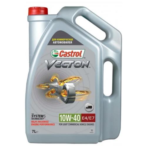 Фото - Синтетическое моторное масло Castrol Vecton 10w-40 E4/E7, 7 л полусинтетическое моторное масло castrol vecton 10w 40 7 л