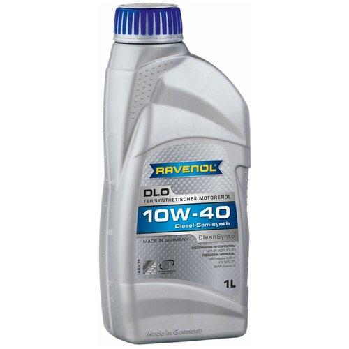 Полусинтетическое моторное масло Ravenol DLO SAE 10W-40, 1 л моторное масло ravenol dlo sae 10w 40 1 л