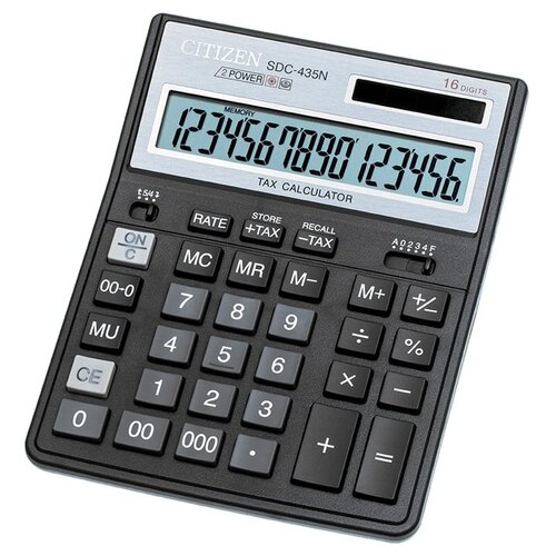 Калькулятор бухгалтерский CITIZEN SDC-435N черный