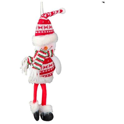 Мягкая игрушка Зимнее волшебство Снеговик в свитере 30 см