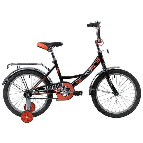 Фото - Детский велосипед Novatrack Urban 18 (2020) черный (требует финальной сборки) детский велосипед novatrack urban 16 2019 синий требует финальной сборки