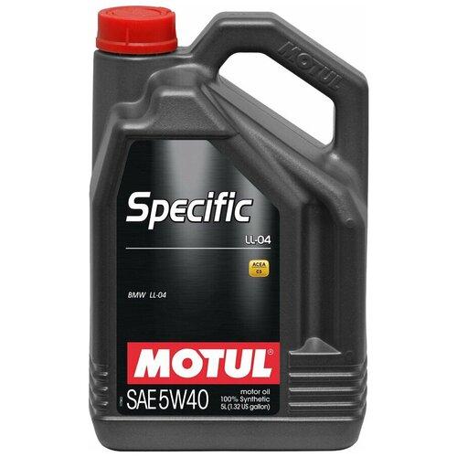Синтетическое моторное масло Motul Specific LL-04 5W40, 5 л