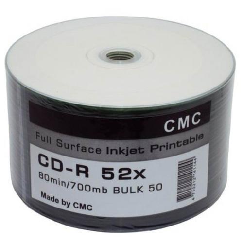Фото - Диск CD-R CMC 700 Mb 52x 50 шт. bulk диск bd r 25gb cmc 6x full printable bulk упаковка 50 штук