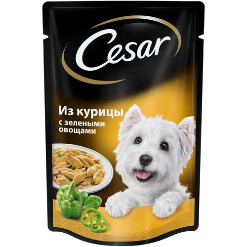 Фото - Влажный корм для собак Cesar курица, с зелеными овощами 2 шт. х 85 г (для мелких и карликовых пород) корм для собак cesar курица с зелеными овощами 100 г