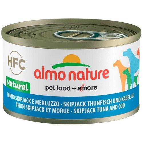 Влажный корм для собак Almo Nature HFC Natural тунец, треска 95 г
