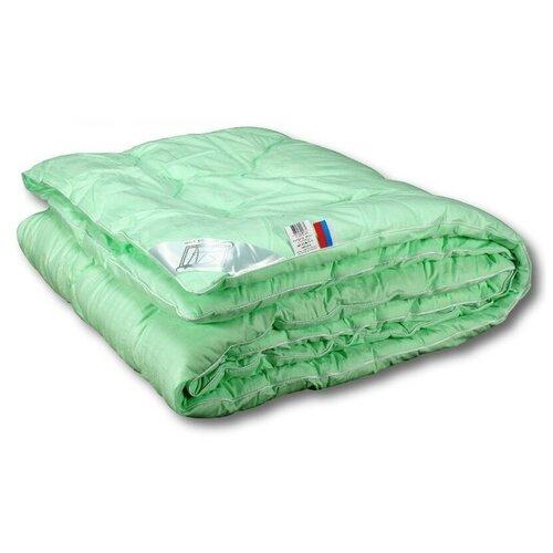 Фото - Одеяло АльВиТек Бамбук Люкс, теплое, 172 х 205 см (зеленый) одеяло альвитек холфит комфорт теплое 172 х 205 см белый розовый