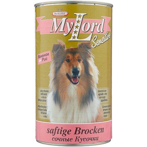 Фото - Влажный корм для собак Dr. Alder`s при чувствительном пищеварении, ягненок 1.23 кг влажный корм для собак dr alder s ягненок 12 шт х 750 г