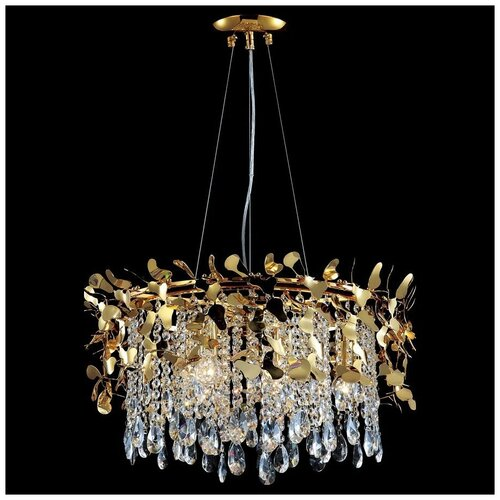 Люстра Crystal Lux Romeo SP6 Gold D600, E14, 360 Вт люстра ideal lux windsor sp6 e14 320 вт