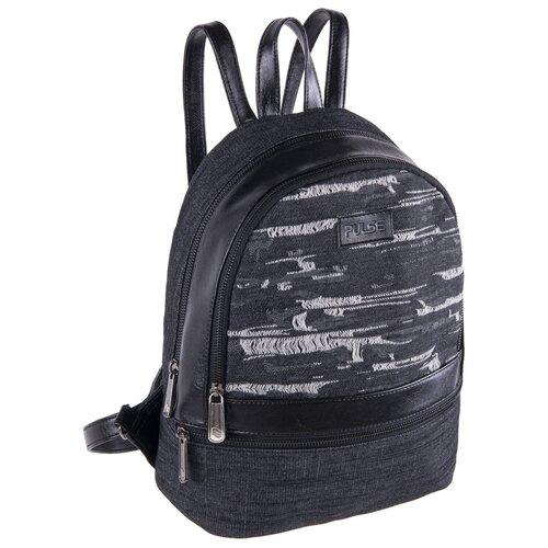 Рюкзак PULSE FIRENZE BLACK JEANS, 26x32x14см pulse рюкзак pulse scate black dot