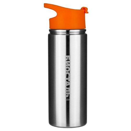 Фото - Классический термос Biostal NHF-500, 0.5 л серебристый/оранжевый термосы biostal термос biostal спорт 0 5 л nhf 500