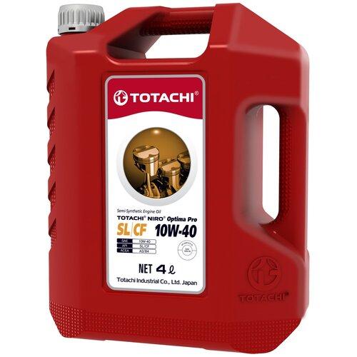 Фото - Полусинтетическое моторное масло TOTACHI NIRO OPTIMA PRO Semi-Synthetic SL/CF 10W-40 4 л синтетическое моторное масло totachi niro lv synthetic 5w 40 4 л