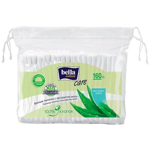 Ватные палочки Bella Cotton Care с экстрактом алоэ, 160 шт. диски ватные bella cotton care с экстрактом алоэ 100 шт