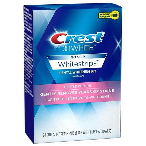 Crest отбеливающие полоски 3D White Gentle Routine, 28 шт.