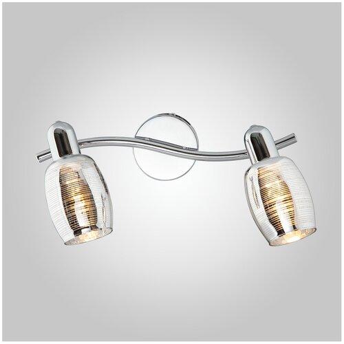 Настенный светильник Eurosvet Polaris 20033/2 хром, 80 Вт бра евросвет 20033 2 хром
