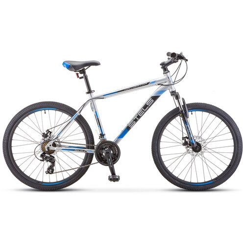 велосипед stels navigator 900 d 29 f010 21 серебристый синий Горный (MTB) велосипед STELS Navigator 900 MD 29 F010 (2019) серебристый/синий 19 (требует финальной сборки)