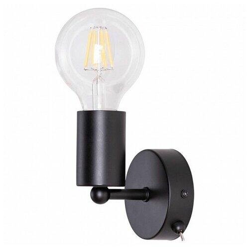 Бра Arte Lamp FUORI A9184AP-1BK, с выключателем, 60 Вт бра arte lamp a9184ap 1bk