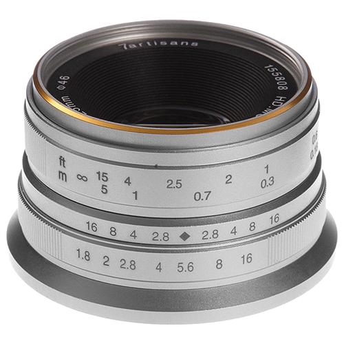 Объектив 7artisans 25mm f/1.8 Micro 4/3 серебристый