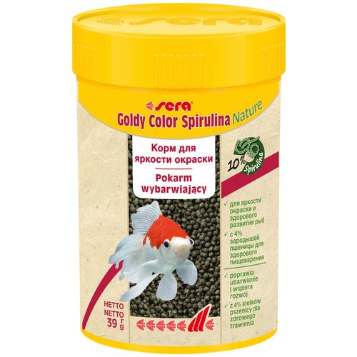 Фото - Сухой корм для рыб Sera Goldy Color Spirulina Nature 100 мл 39 г сухой корм для рыб dajana pet betta 100 мл 25 г
