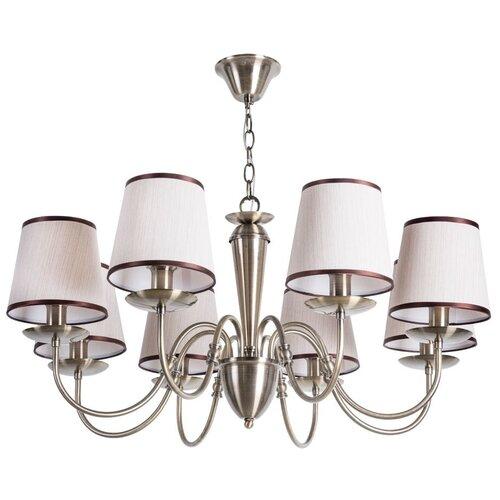 Фото - Люстра Arte Lamp Fiona A3227LM-8AB, E14, 320 Вт, кол-во ламп: 8 шт., цвет арматуры: бронзовый, цвет плафона: бежевый люстра arte lamp enigma a3133pl 8ab 320 вт
