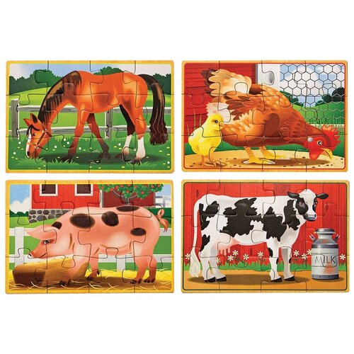 Фото - Набор пазлов Melissa & Doug Животные с фермы (3793) набор животные фермы schleich набор животные фермы