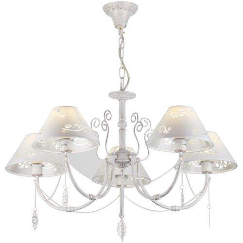 Люстра Rivoli Femmi 2032-205, E14, 200 Вт, кол-во ламп: 5 шт., цвет арматуры: белый, цвет плафона: белый