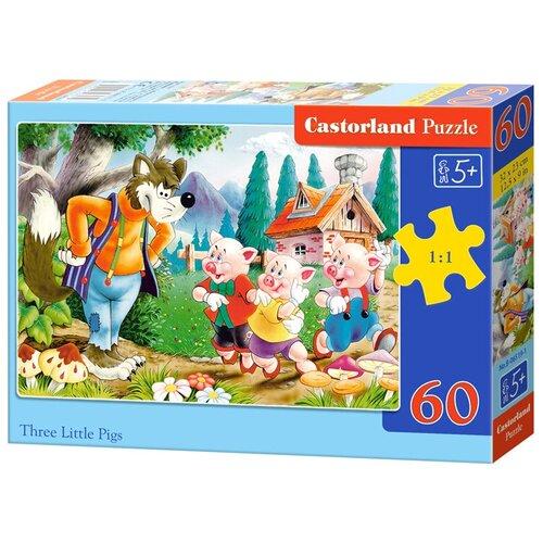 Пазл Castorland Three Little Pigs (B-06519), 60 дет. пазл castorland cute kittens b 066087 60 дет