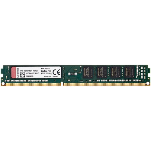 Фото - Оперативная память Kingston ValueRAM 4GB DDR3 1333MHz DIMM 240-pin CL9 KVR13N9S8/4 оперативная память kingston hx313c9fw 4 hyperx fury white series dimm 4gb ddr3 1333mhz
