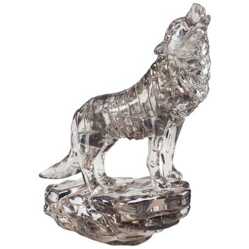 Фото - 3D-пазл Crystal Puzzle Черный волк (90255), 37 дет. 3d пазл crystal puzzle дельфин 91004 95 дет