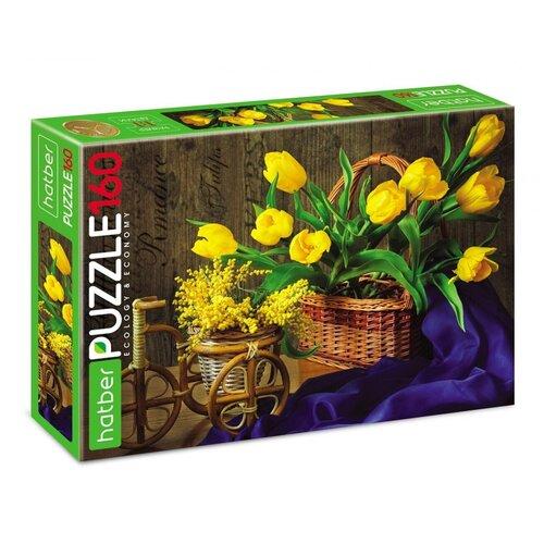 Пазл Hatber Весенний букет (160ПЗ4_18676), 160 дет. пазл hatber букет цветов 250пз3 09919 250 дет