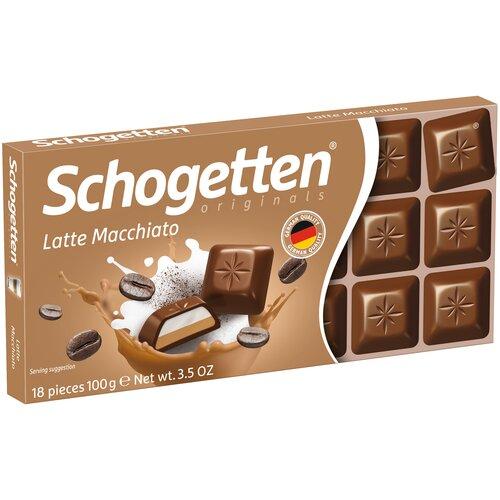 шоколад алёнка молочный порционный с молочной начинкой 100 г Шоколад Schogetten Latte Macchiato молочный с кофейно-молочной начинкой, 100 г