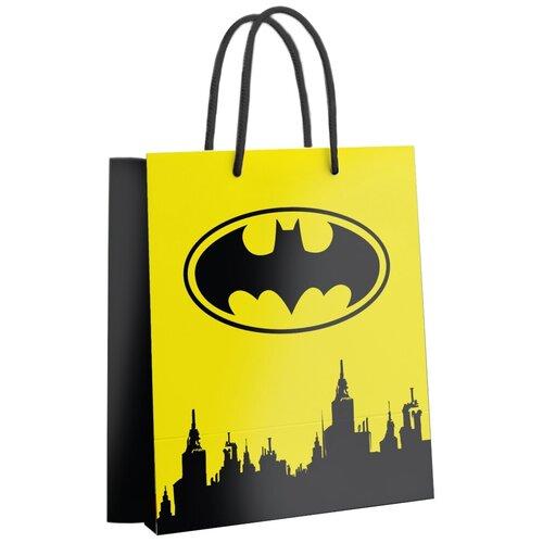Пакет подарочный ND Play Batman 33.5 х 40.6 х 15.5 см желтый недорого