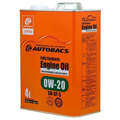 Синтетическое моторное масло Autobacs Fully Synthetic 0W-20 SN/GF-5 4 л