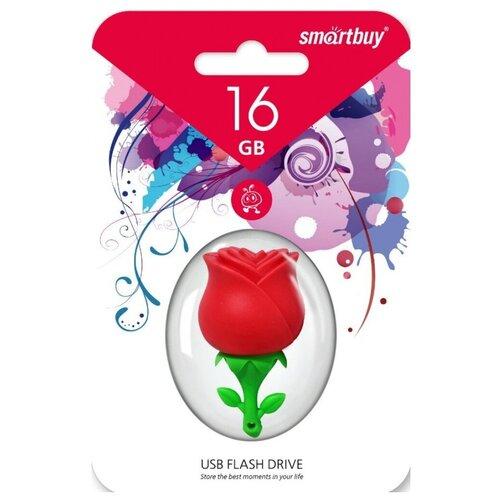 Фото - Флешка SmartBuy Wild Series Rose 16 GB, красный/зеленый флешка smartbuy ny series snow 16 gb красный белый