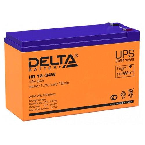 Фото - Аккумуляторная батарея DELTA Battery HR 12-34W 9 А·ч аккумуляторная батарея delta battery gel 12 33 33 а·ч