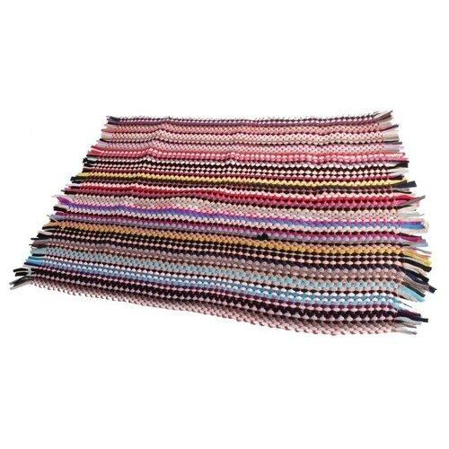 Декоративный коврик Доляна Половичок (575037), размер: 0.78х0.48 м, черный/голубой/розовый