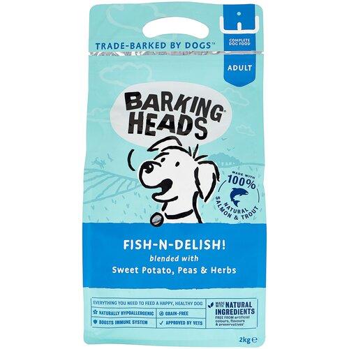 Сухой корм для собак Barking Heads Беззерновой корм для собак с лососем, форелью и бататом Рыбка-вкусняшка (2 кг) 2 кг