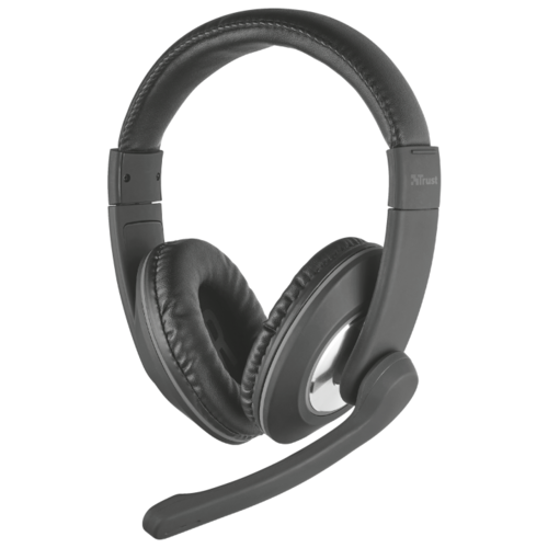 Компьютерная гарнитура Trust Reno Headset for PC and laptop черный