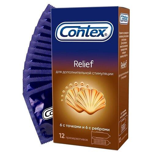 Купить Презервативы Contex Relief, 12 шт., Интим-товары
