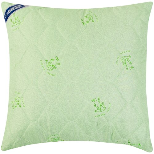 Подушка ТекСтиль Бамбук/полиэстер 70 х 70 см зеленый