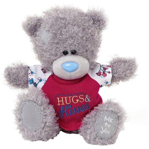 Мягкая игрушка Me to you Мишка Тедди в футболке Hugs & kisses 20 см