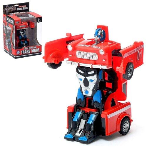 Купить Робот - трансформер Спецслужбы , с элементами из металла, цвет красный 4376177, Сима-ленд, Роботы и трансформеры