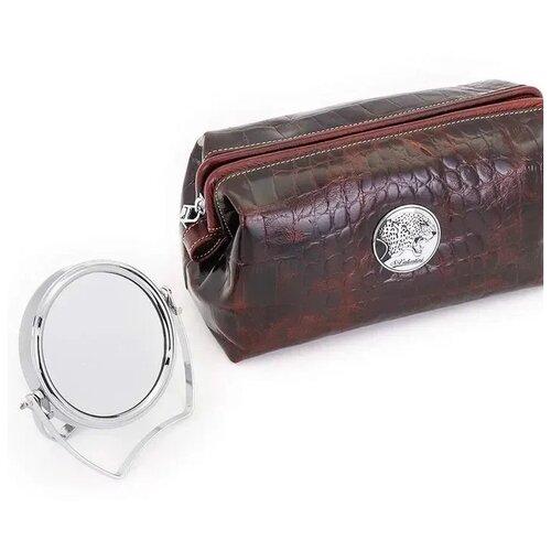 Женская кожаная косметичка Sergio Valentini с зеркалом СВ 8123-5005/Вз