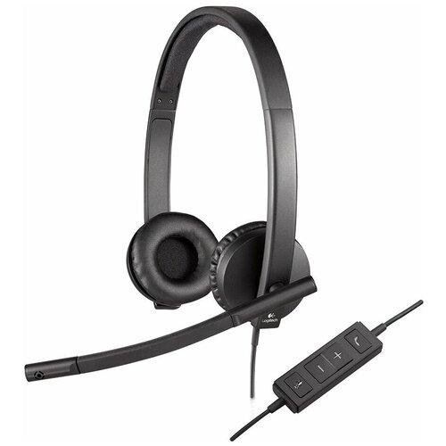 Фото - Компьютерная гарнитура Logitech VC USB Headset Stereo H570e черный компьютерная гарнитура corsair hs50 pro stereo gaming headset черный матовый