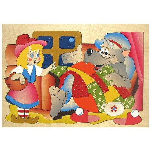 Рамка-вкладыш Крона Красная шапочка (143-035), 63 дет. рамка вкладыш крона азбука в картинках 143 073 50 дет