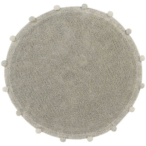 Фото - Ковер Lorena Canals с помпонами, диаметр: 1.2 м, оливковый ковры lorena canals ковер с помпонами 120d