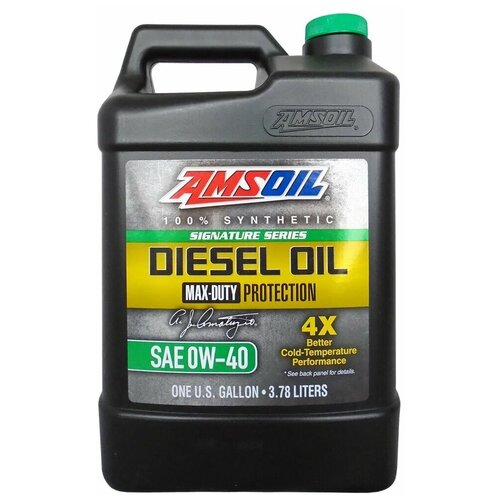 Фото - Синтетическое моторное масло AMSOIL Signature Series Max-Duty Synthetic Diesel Oil 0W-40, 3.78 л синтетическое моторное масло amsoil synthetic 2 stroke injector oil 3 78 л