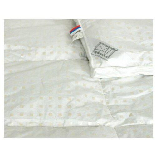 Фото - Одеяло АльВиТек Дольче-Люкс, теплое, 172 х 205 см (белый/бежевый) одеяло альвитек холфит комфорт теплое 172 х 205 см белый розовый